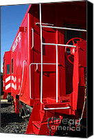 Old Caboose Canvas Prints - Historic Niles District in California Near Fremont . Western Pacific Caboose Train . 7D10622 Canvas Print by Wingsdomain Art and Photography