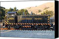 Old Caboose Canvas Prints - Historic Niles Trains in California . Old Southern Pacific Locomotive . 7D10867 Canvas Print by Wingsdomain Art and Photography