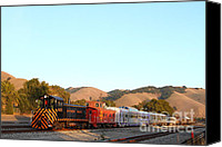 Old Caboose Canvas Prints - Historic Niles Trains in California . Old Southern Pacific Locomotive and Sante Fe Caboose . 7D10869 Canvas Print by Wingsdomain Art and Photography