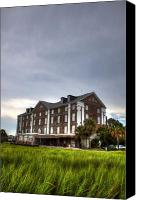 Charleston Sc Harbor Tours Canvas Prints - Historic Rice Mill Building Canvas Print by Dustin K Ryan