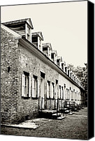 Terry Deluco Canvas Prints - Historic Row Homes Allaire Village Canvas Print by Terry DeLuco