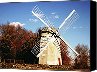 Jamestown Canvas Prints - Historical Windmill Canvas Print by Lourry Legarde