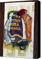 Baseball Painting Canvas Prints - History Canvas Print by Jame Hayes