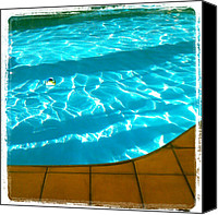 Nature Canvas Prints - Hit The #pool. #water #abstract #summer Canvas Print by Adam Romanowicz