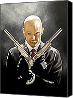 Video Game Canvas Prints - Hitman Canvas Print by Al  Molina