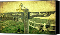 The Lord Of The Rings Canvas Prints - Hobbiton Signage Canvas Print by Linde Townsend