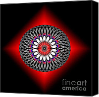 2hivelys Art Canvas Prints - Hoberman Sphere Canvas Print by Methune Hively