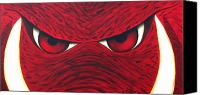 Arkansas Canvas Prints - Hog Eyes 2 Canvas Print by Amy Parker