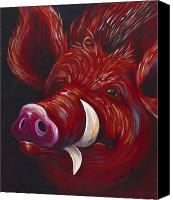 Arkansas Canvas Prints - Hog Fan Canvas Print by Shawna Elliott