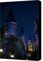 Disney Canvas Prints - Hogwarts Canvas Print by Sarita Rampersad