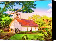 Kaanapali Mixed Media Canvas Prints - Hokuloa Church at Puako Canvas Print by Dominic Piperata