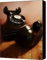 Antique Telephone Canvas Prints - Hold On Canvas Print by Osvaldo Hamer