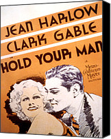 Harlow Canvas Prints - Hold Your Man, Jean Harlow, Clark Canvas Print by Everett