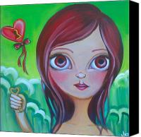 Jasmine Painting Canvas Prints - Holding the Key Canvas Print by Jaz Higgins