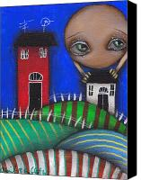 House Painting Canvas Prints - Holding you Canvas Print by  Abril Andrade Griffith