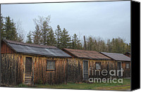 Old Cabins Canvas Prints - Holiday Cabins of the Past 1 Canvas Print by Deborah Smolinske