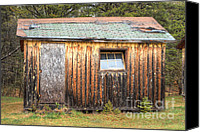 Old Cabins Canvas Prints - Holiday Cabins of the Past 2 Canvas Print by Deborah Smolinske