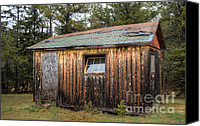 Old Cabins Canvas Prints - Holiday Cabins of the Past 3 Canvas Print by Deborah Smolinske