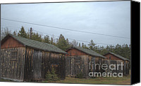 Old Cabins Canvas Prints - Holiday Cabins of the Past 4 Canvas Print by Deborah Smolinske