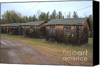 Old Cabins Canvas Prints - Holiday Cabins of the Past 5 Canvas Print by Deborah Smolinske
