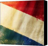 Abstract Map Photo Canvas Prints - Holland flag Canvas Print by Setsiri Silapasuwanchai