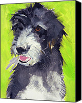 Dogs Canvas Prints - Holly Canvas Print by Sally Muir
