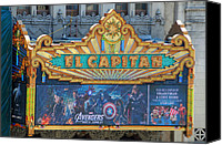 Avengers Photo Canvas Prints - Hollywoods El Capitan Theatre Canvas Print by Lynn Bauer