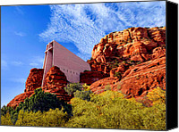 Cavern Canvas Prints - Holy Cross or Red Rock Chapel Canvas Print by Nadine and Bob Johnston