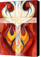Flames Canvas Prints - Holy Spirit Canvas Print by Mark Jennings
