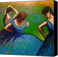 Contemporary Dance Painting Canvas Prints - Homage to Degas II Canvas Print by John  Nolan