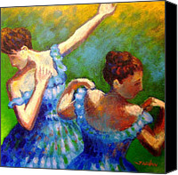Contemporary Dance Painting Canvas Prints - Homage to Degas Canvas Print by John  Nolan