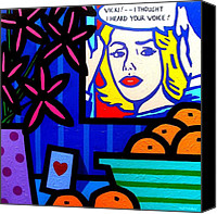 Lichtenstein Canvas Prints - Homage To Lichtenstein -  Still Life Canvas Print by John  Nolan