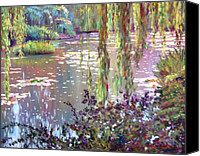 Water Lily Canvas Prints - Homage to Monet Canvas Print by David Lloyd Glover