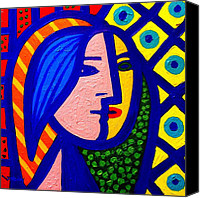 Starry Painting Canvas Prints - Homage To Pablo Picasso Canvas Print by John  Nolan