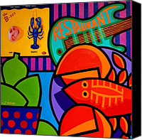 Limes Canvas Prints - Homage To Rock Lobster Canvas Print by John  Nolan