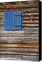 Cabin Window Canvas Prints - Home - Sweet Home Canvas Print by Heiko Koehrer-Wagner