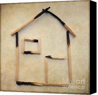 Miniature Effect Canvas Prints - Home Canvas Print by Bernard Jaubert