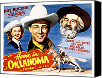1946 Movies Canvas Prints - Home In Oklahoma, Dale Evans, Roy Canvas Print by Everett