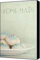 Plate Canvas Prints - Home Made Cookies Canvas Print by Priska Wettstein