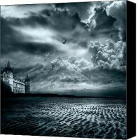 Castle Pyrography Canvas Prints - Home Canvas Print by Photodream Art