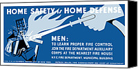 War Effort Canvas Prints - Home Safety Is Home Defense Canvas Print by War Is Hell Store