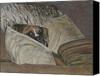 Boxer Pastels Canvas Prints - Home So Soon Canvas Print by Elizabeth  Ellis