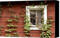 Barn Windows Canvas Prints - Home Sweet Home Canvas Print by Jim Fox