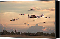 P51 Mustang Canvas Prints - Home to Roost Canvas Print by Pat Speirs