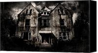 Haunted House Canvas Prints - Home Canvas Print by Torgeir Ensrud