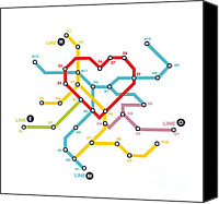 Train Canvas Prints - Home where the heart is Canvas Print by Budi Satria Kwan