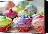 Food And Drink Canvas Prints - Homemade Cupcakes Canvas Print by Richard Newstead