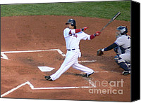 Manny Ramirez Canvas Prints - Homerun Swing Canvas Print by Kevin Fortier