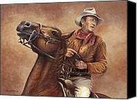 Wayne Canvas Prints - Hondo Canvas Print by Kim Lockman