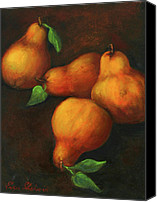 Fine Art - Still Lifes Canvas Prints - Honey Pears Canvas Print by Enzie Shahmiri